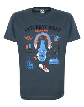 Camiseta S-fly Drunken Astra Writers - azul denim