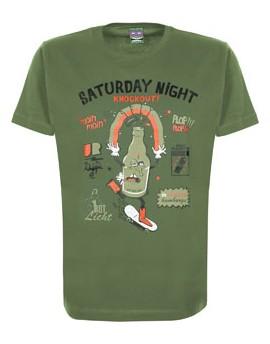 Camiseta S-fly Drunken Astra Writers - verde oliva