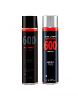 pack burner black 600ml x2