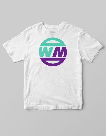 Camiseta Writers Madrid Blanca- Logo dos colores-