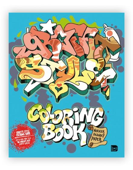 """Libro dibujo """"Graffiti Style"""" Coloring Book"""