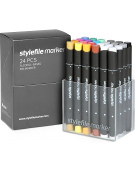 Stylefile twin marker Set Main A (24 rotuladores)