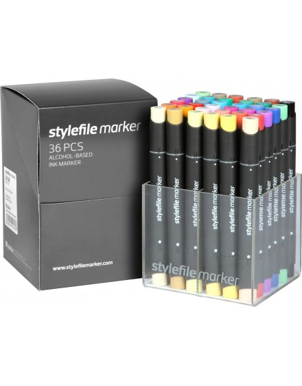 Stylefile twin marker Set Main A (36 rotuladores)