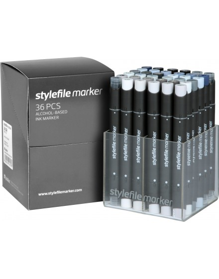 Stylefile twin marker Set Grey (36 rotuladores)