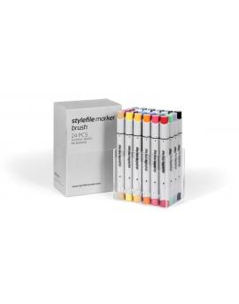 """Stylefile Brush Set """" Warm Grey"""" ( 12 rotuladores)"""