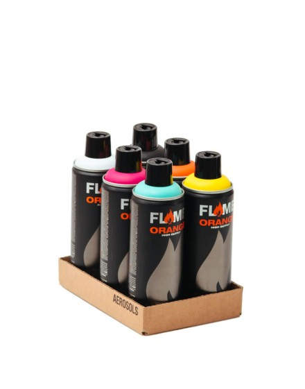Pack Flame Orange 6 sprays