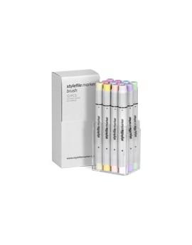 """Stylefile Brush Set """"Pastel set"""" (12 rotuladores)"""