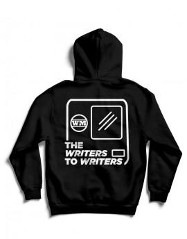 "Sudadera ""WRITERS TO WRITERS CABECERA"" Negra con capucha"