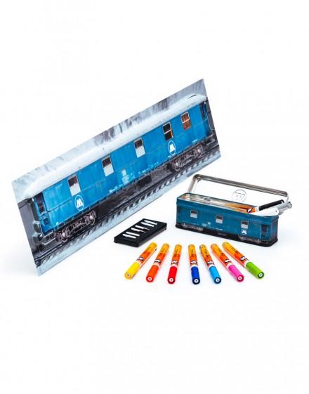 pack tren rotuladores acrilicos 2mm y poster 3d grande