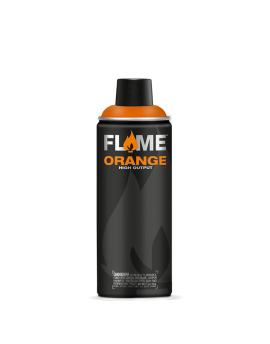 Spray de pintura acrílica Flame Orange 400ml