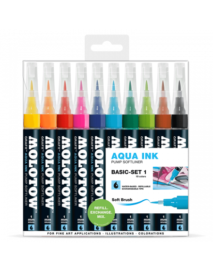Pack 10 rotuladores acuarelables Molotow grafx set1