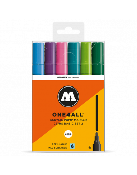pack 6 rotuladores acrilicos molotow one4all 227hs set2