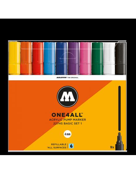 Pack 10 rotuladores acrílicos One4all 4mm set 1