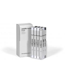 "Stylefile Brush set ""Neutral Grey"" (12 rotuladores)"