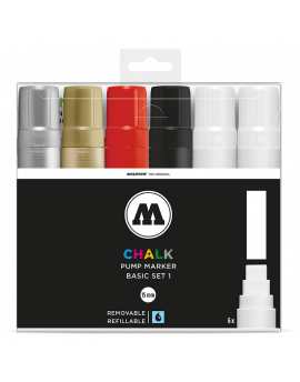 Pack Chalk Marker 4mm Basic Set 1