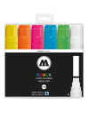 Pack 6 rotuladores Molotow Chalk  15mm neon