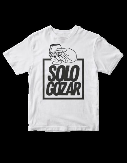 camiseta solo gozar-vaso