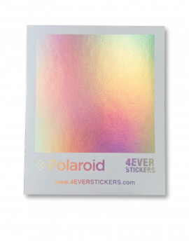 4ever sticker holografico polaroid