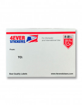 4ever sticker blanco priority mail