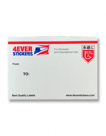 4ever sticker blanco priority mail