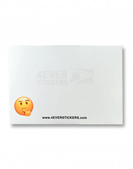 4ever sticker blanco emoji