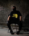 Camiseta For The Face - Negro logo Amarillo
