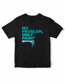 "Camiseta-""NO PROBLEM ONLY PAINT"" gama verdes"