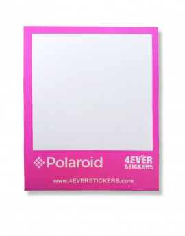 4ever sticker polaroid rosa