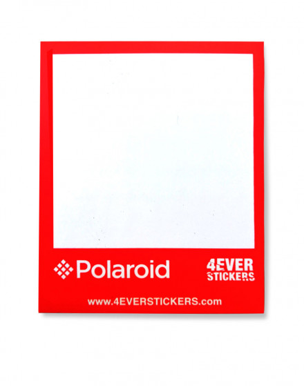 4ever sticker polaroid rojo