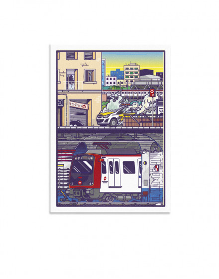 crime in the city print