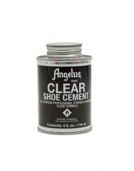 Clear shoe cement