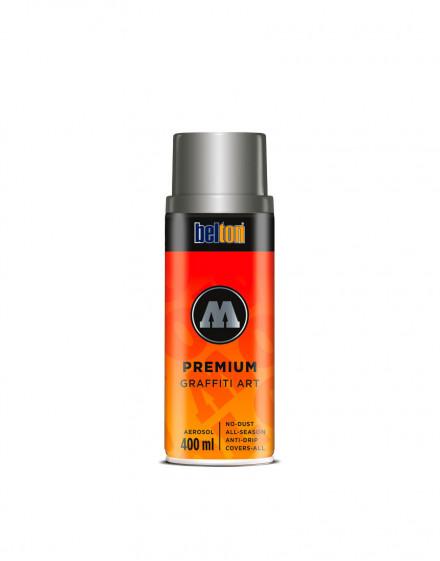 spray de pintura efecto metalizado mate plata molotow premium
