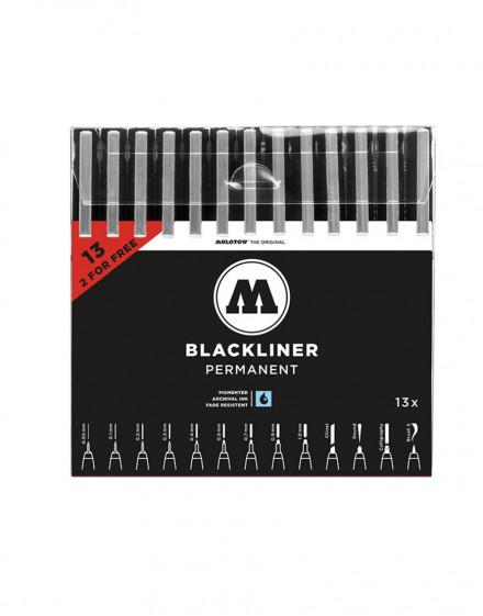 Pack rotuladores Blackliner Molotow x13