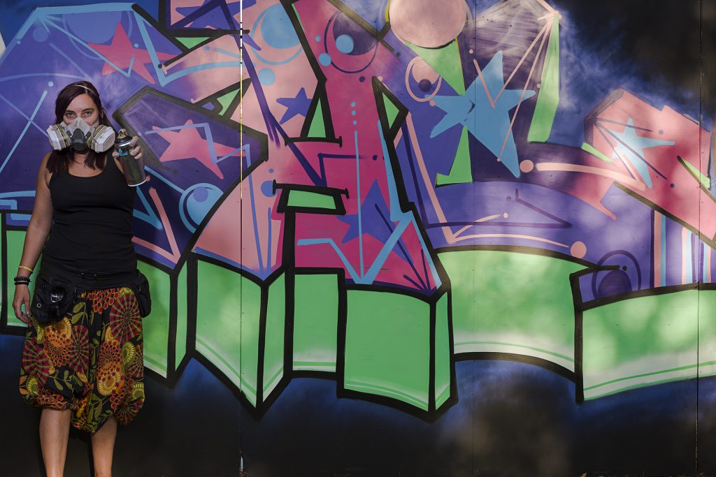 exhibición de graffiti spray flame graffiti writers madrid