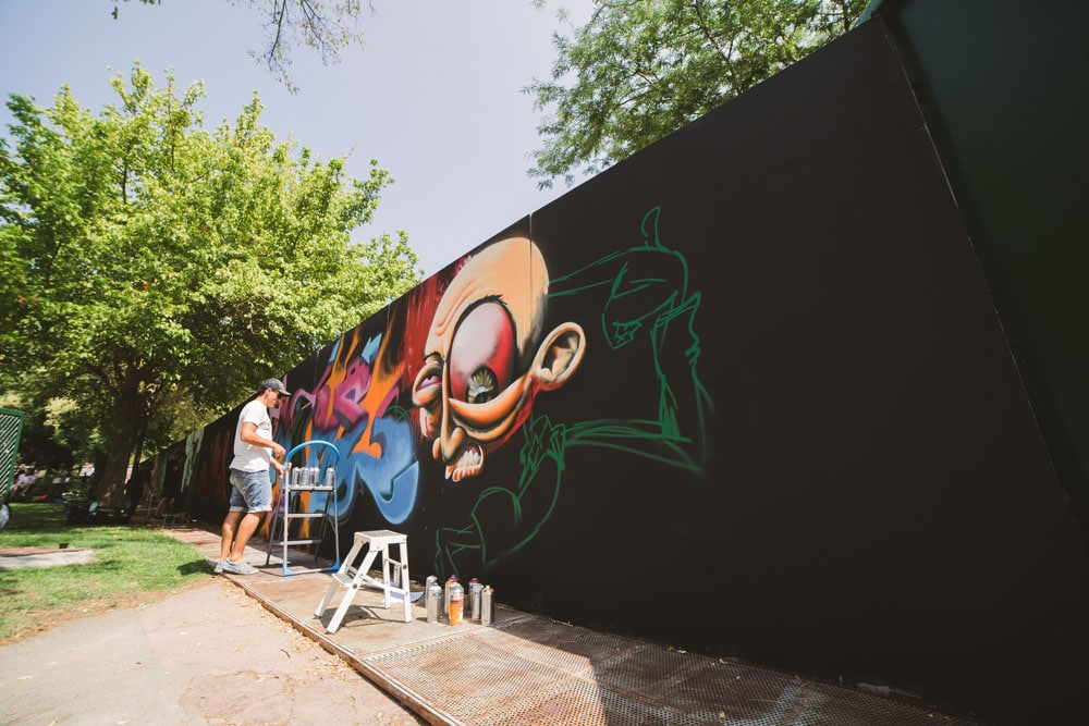 Exhibición de graffiti Pio Rap Madrid 2018