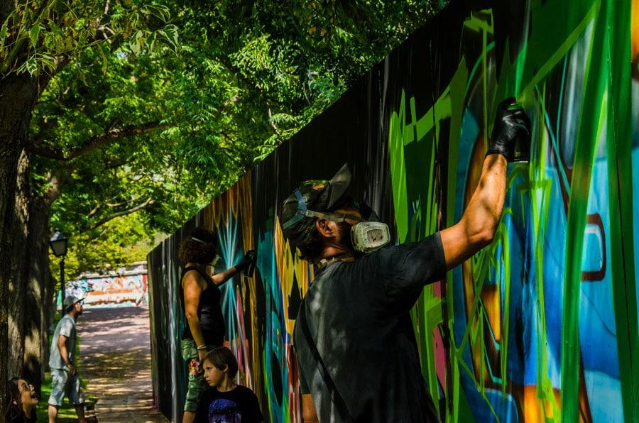 Exhibición de graffiti Pio Rap Madrid 2018