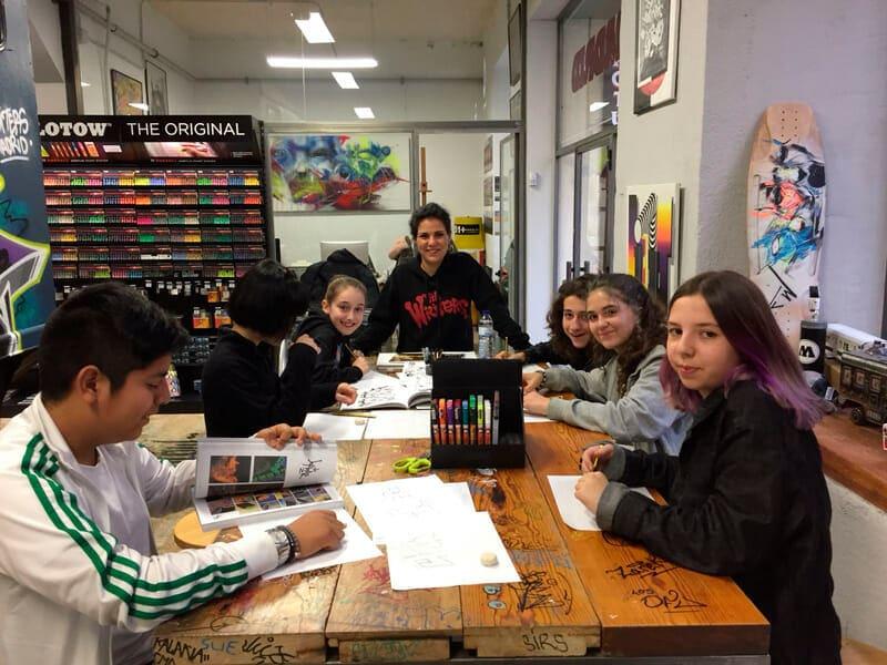 taller de graffiti tarde de bocetos