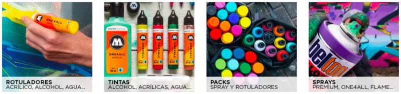 tienda online de graffiti molotow.es botones