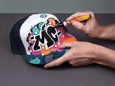 Pintura acrilica para Gorras