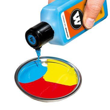 pintura acrilica recipiente