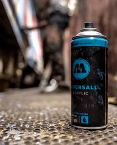 aerosol pintura base agua molotow