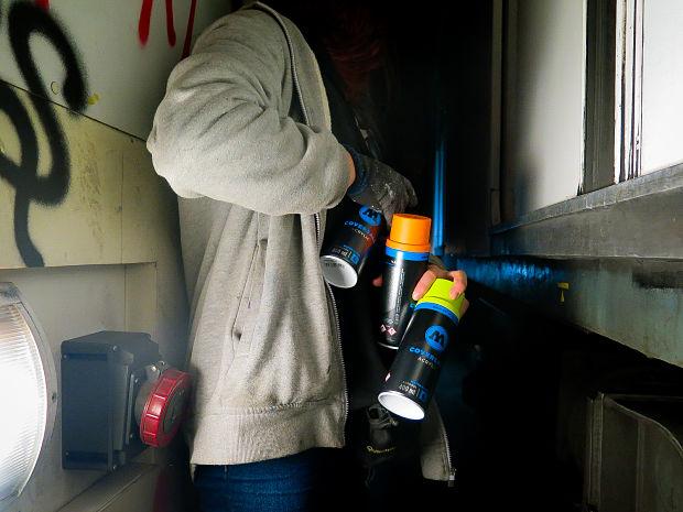 sprays base agua para graffiti