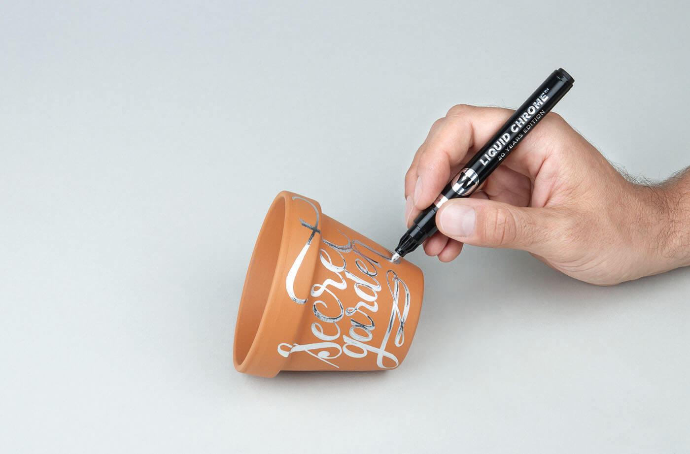 como pintar en cromado plata