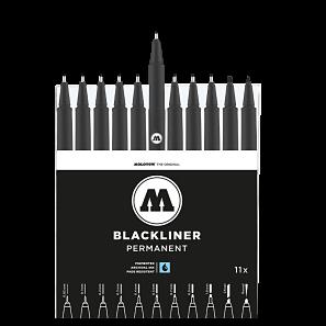 black liner molotow rotulador negro