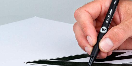 rotuladores calibrados punta fina negra