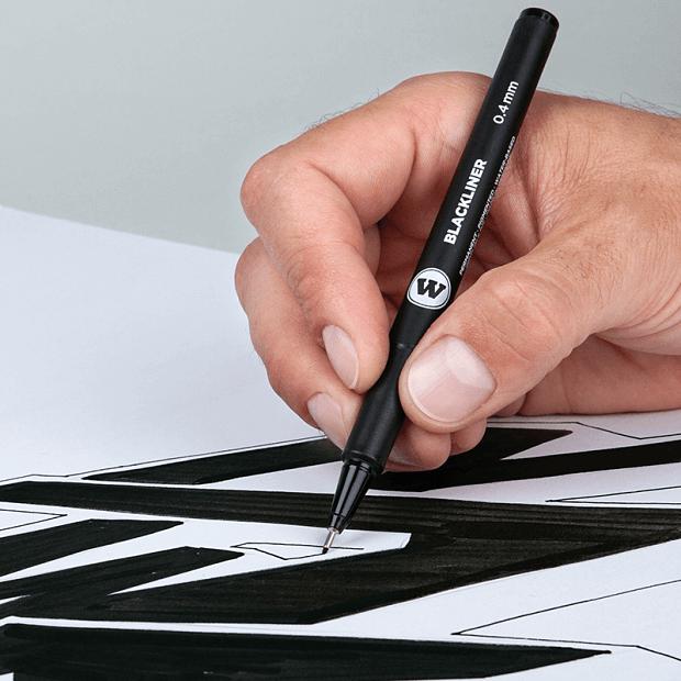 rotulador calibrado tinta negra